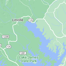 Lake james map for Lake james nc fishing